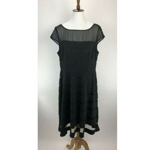 Adrianna Papell Cocktail Dress Womens 16 A60-03P